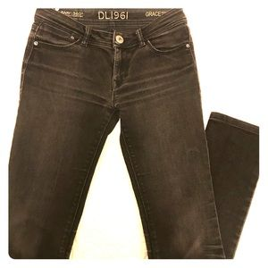 DL1961 Faded Black Grace High Rise Straight Jeans